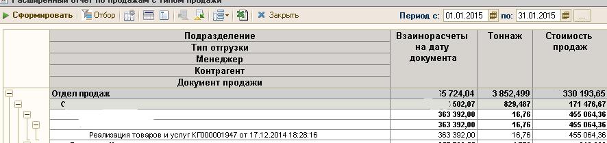 СКД Внешний источник данных, грузим из ТЗ и далее получаем остатки на каждый документ